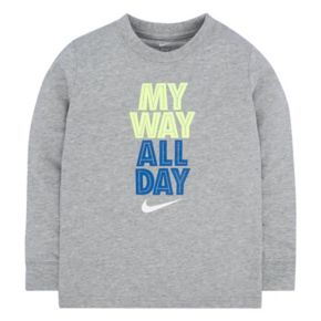 "Toddler Boy Nike ""My Way All Day"" Tee"