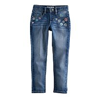 Girls 4-12 SONOMA Goods for Life™ Embroidered Dark Wash Jeggings