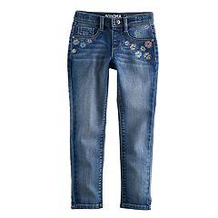 Girls 4-12 SONOMA Goods for Life™ Embroidered Dark Wash Jeggings