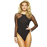 Women's Jezebel Kirsten Long Sleeve Thong Bodysuit 999804