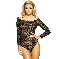 Women's Jezebel Eliza Off Shoulder Lace Bodysuit