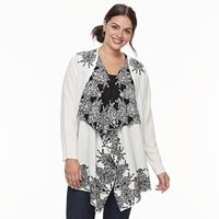 Plus Size Napa Valley Open-Front Cardigan