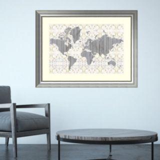 Amanti Art Flower Map III Framed Wall Art