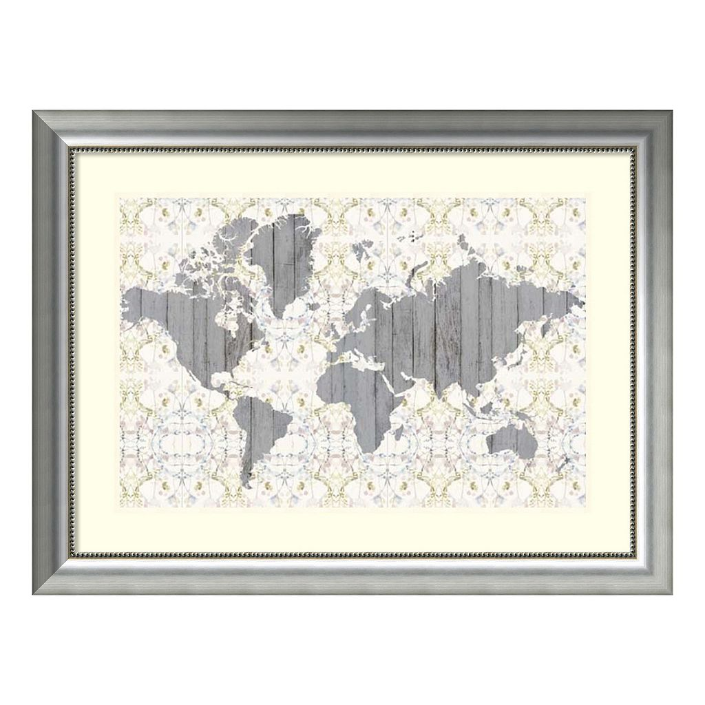 Amanti Art Flower Map III Framed Wall Art