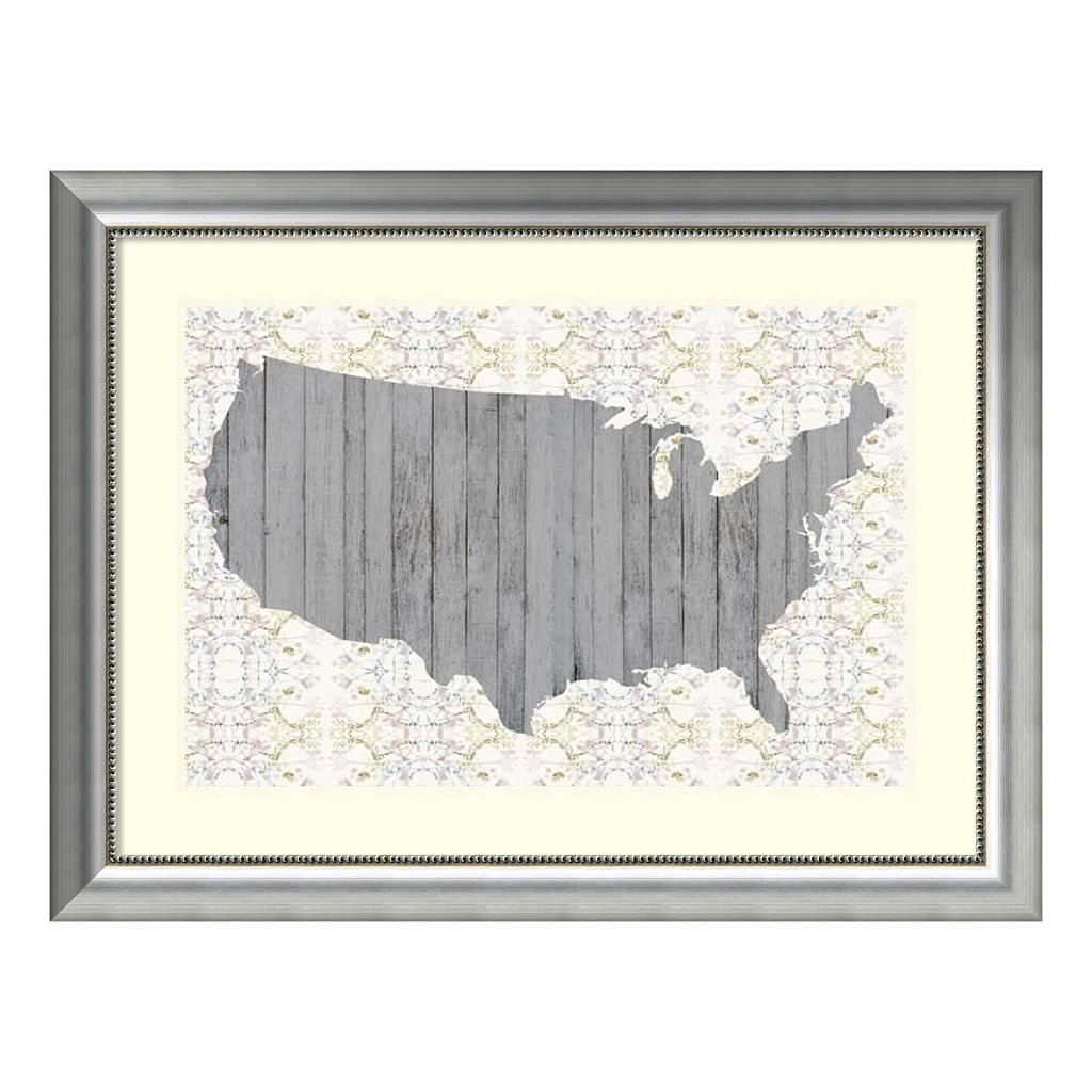 Amanti Art Flower Map IV Framed Wall Art