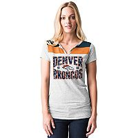 Women's 5th & Ocean by New Era Denver Broncos Burnout Henley Tee