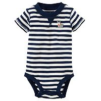 Baby Boy Carter's Striped Dog Applique Bodysuit