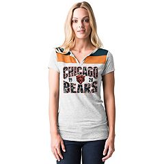 Women's 5th & Ocean by New Era Chicago Bears Burnout Henley Tee