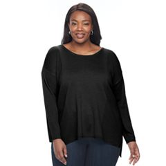 Plus Size Napa Valley Textured Rib Sweater