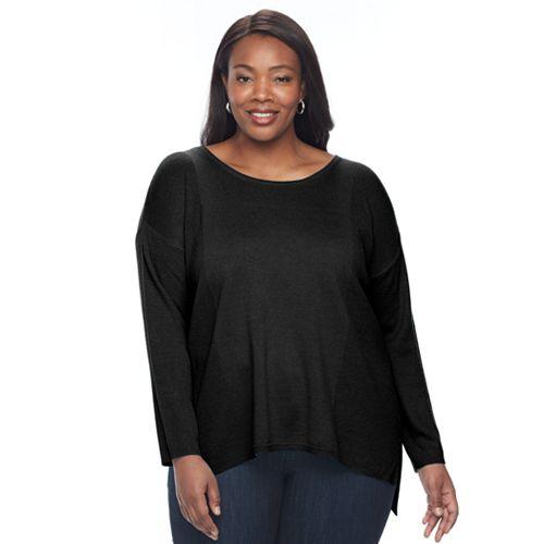 Plus Size Napa Valley Textured Rib Sweater