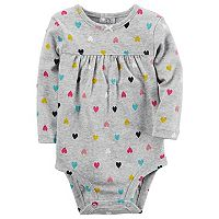 Baby Girl Carter's Heart Shirred Bodysuit