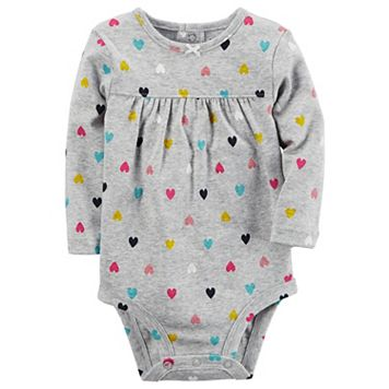 Baby Girl Carter's Heart Shirred Bodysuit
