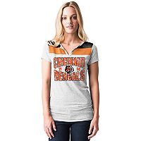 Women's 5th & Ocean by New Era Cincinnati Bengals Burnout Henley Tee