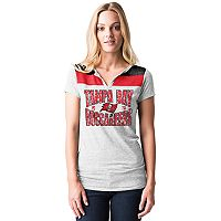 Women's 5th & Ocean by New Era Tampa Bay Buccaneers Burnout Henley Tee