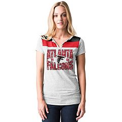 Women's 5th & Ocean by New Era Atlanta Falcons Burnout Henley Tee