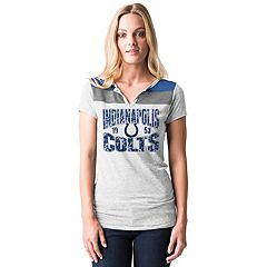 Women's 5th & Ocean by New Era Indianapolis Colts Burnout Henley Tee