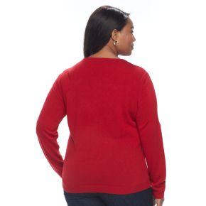 Plus Size Napa Valley Solid Crewneck Sweater