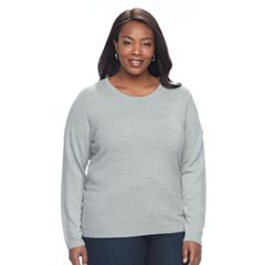 Plus Size Napa Valley Solid Crewneck Sweater