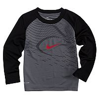 Toddler Boy Nike Logo Football Raglan Tee