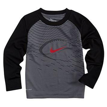 Toddler Boy Nike Logo Football Raglan Tee