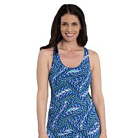 Women's Dolfin Striped Racerback Tankini Top