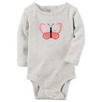 Baby Girl Carter's Butterfly Heathered Bodysuit