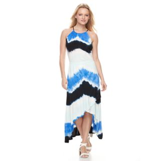 Women's WDNY Black Tie-Dye Halter Maxi Dress