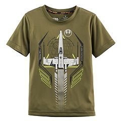 Boys 4-7x Star Wars a Collection for Kohl's Death Star Ship Glow-in-the-Dark Graphic Tee
