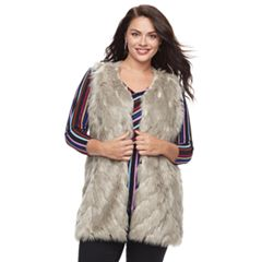 Plus Size Napa Valley Faux-Fur Vest