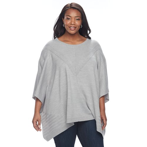 Plus Size Napa Valley Textured Poncho