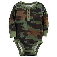 Baby Boy Carter's Camouflage Henley Bodysuit
