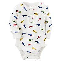 Baby Boy Carter's Pennant Flag Henley Bodysuit
