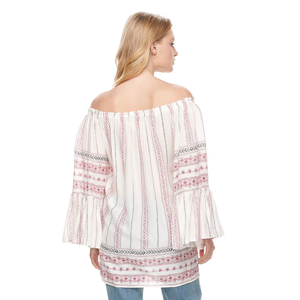 Women's E by Elan Off-the-Shoulder Peasant Top