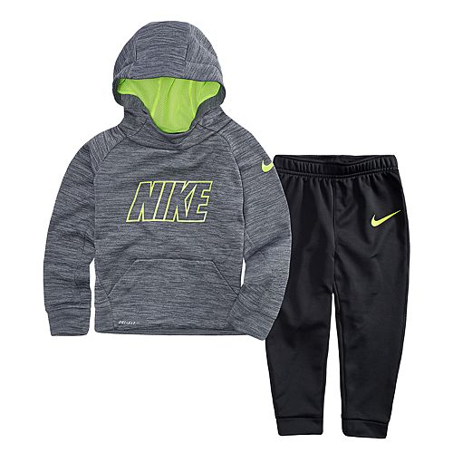 7826d3882 Toddler Boy Nike 2-pc. Therma-FIT Gray Hoodie   Jogger Pants Set