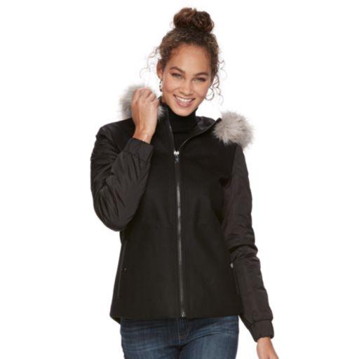 Women's Apt. 9® Faux-Fur Wool Blend Jacket