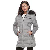 Women's Apt. 9® Stretch Hooded Faux-Fur Trim Puffer Jacket