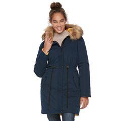 Women's Apt. 9® Hooded Faux-Fur Trim Anorak