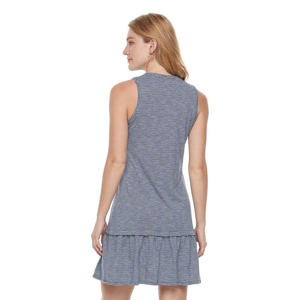 Women's SONOMA Goods for Life™ Striped Drop-Waist Dress