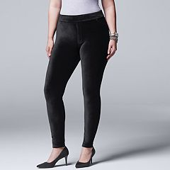 Plus Size Simply Vera Vera Wang Corduroy Jean Leggings