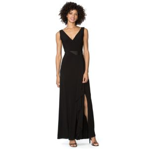 Women's Chaps Draped Jersey Evening Gown