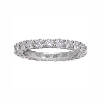 PRIMROSE Sterling Silver Cubic Zirconia Eternity Ring