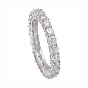 PRIMROSE Sterling Silver Cubic Zirconia Eternity Ring