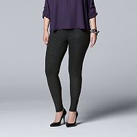 Plus Size Simply Vera Vera Wang Snakeskin Print Leggings