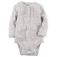 Baby Girl Carter's Cheetah Print Henley Bodysuit