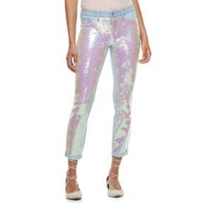 Juniors' Candie's® Sequin Skinny Jeans