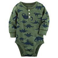 Baby Boy Carter's Dinosaur Print Henley Bodysuit
