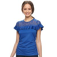 Juniors' HeartSoul Ruched Lace Top