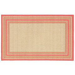 Liora Manne Terrace Multi Border Indoor Outdoor Rug