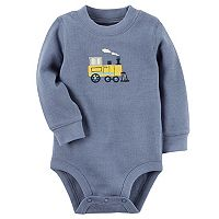 Baby Boy Carter's Train Applique Thermal Bodysuit