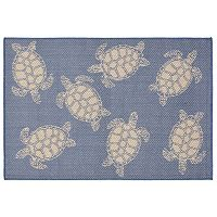Liora Manne Terrace Sea Turtle Indoor Outdoor Rug